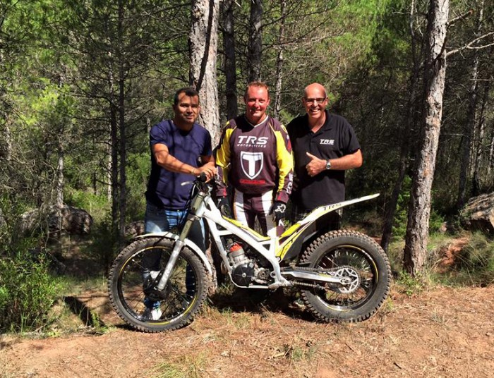 Marc Arano, Steve Saunders & Jordi Tarres with the new TRS One
